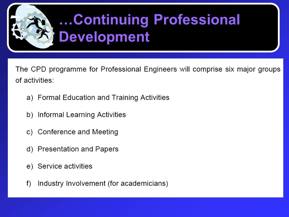 …Continuing Professional Development