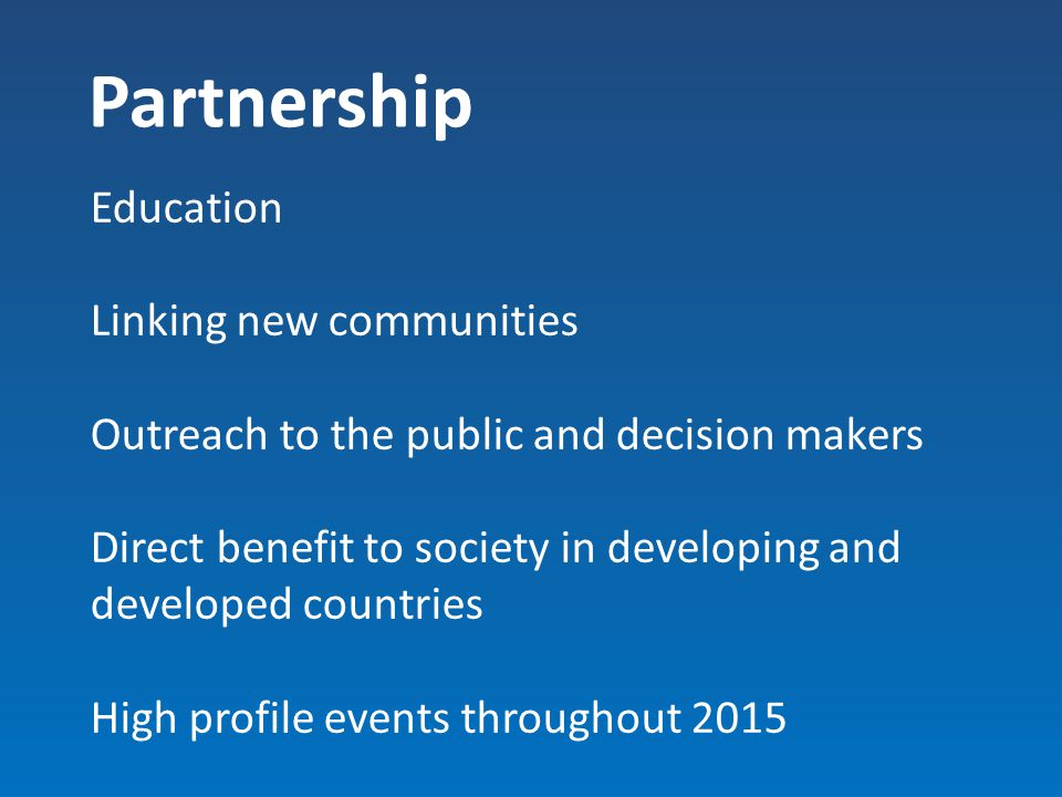 Partnership Education Linking new communities