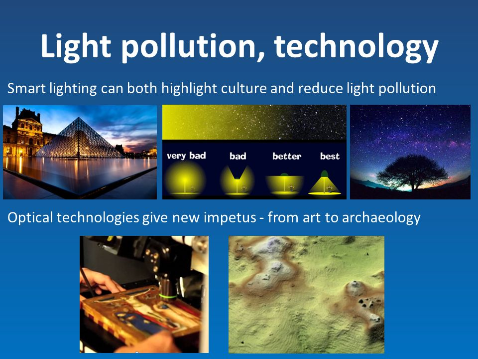 Light pollution, technology