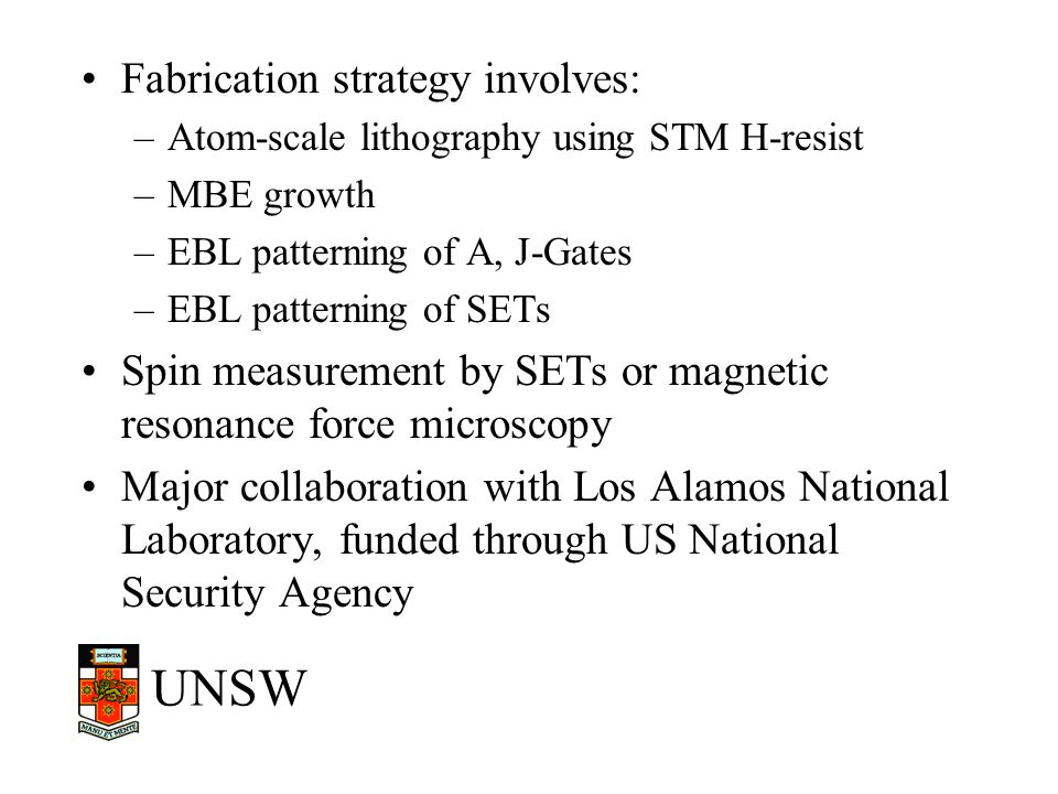 Fabrication strategy involves: