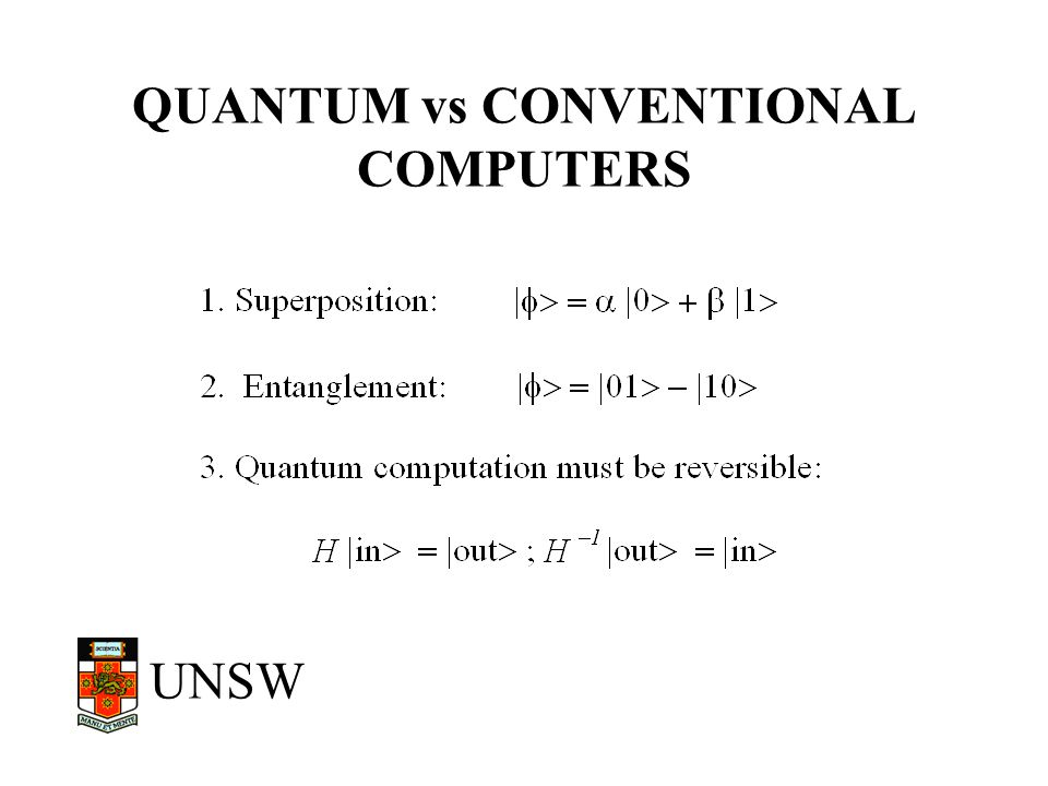 QUANTUM vs CONVENTIONAL COMPUTERS