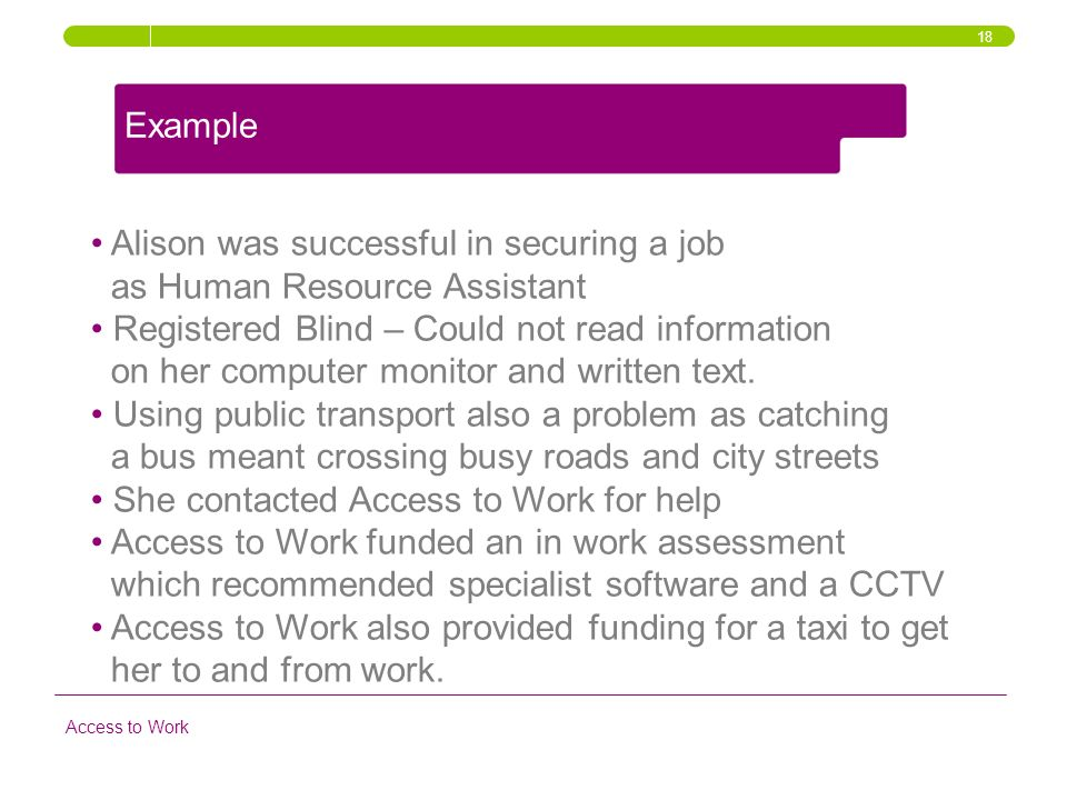 Alison was successful in securing a job as Human Resource Assistant