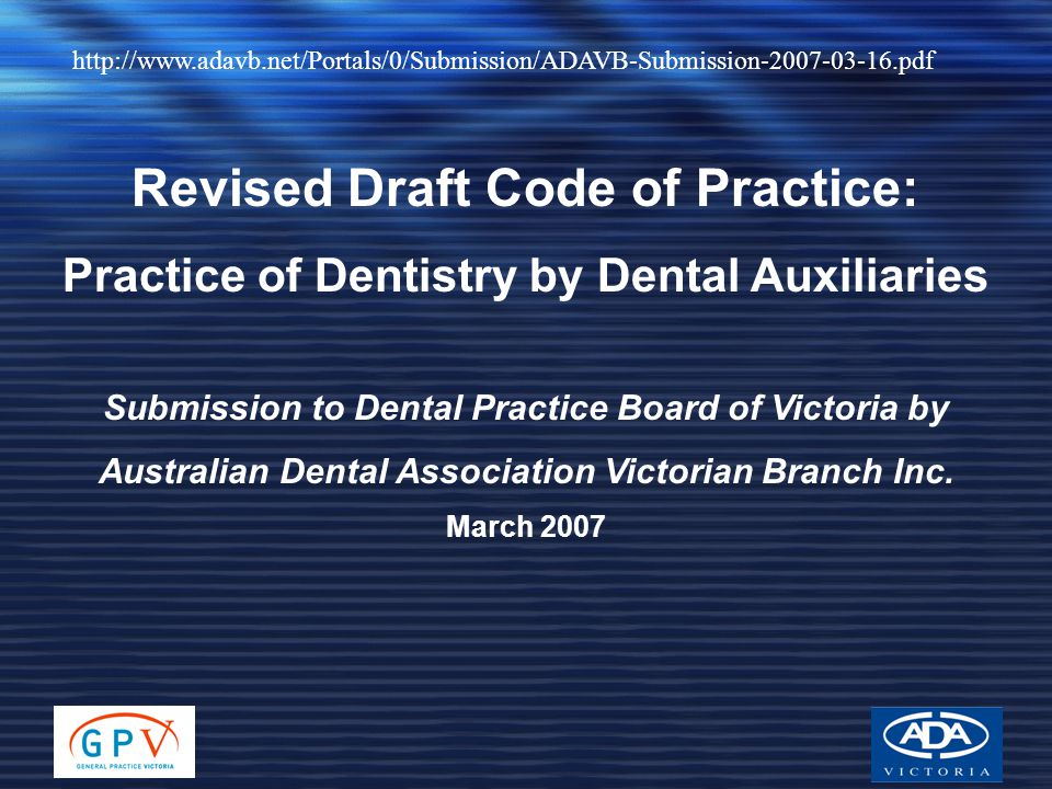 Revised Draft Code of Practice: