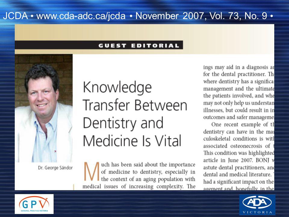 JCDA • www.cda-adc.ca/jcda • November 2007, Vol. 73, No. 9 •