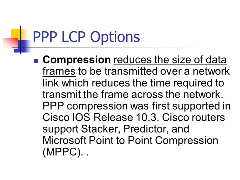 PPP LCP Options