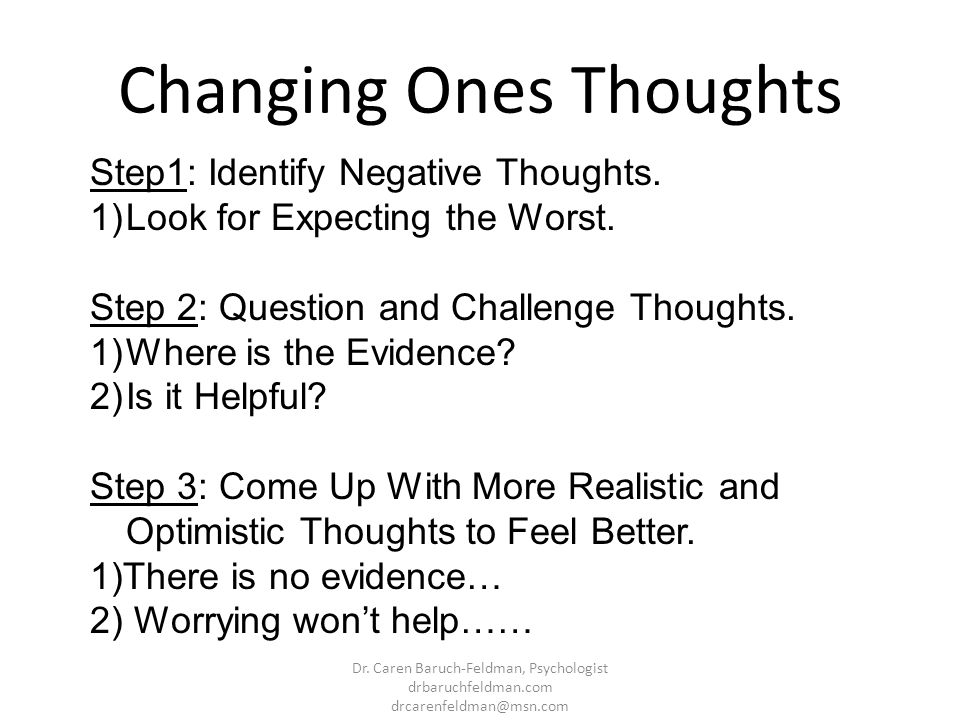 Changing Ones Thoughts