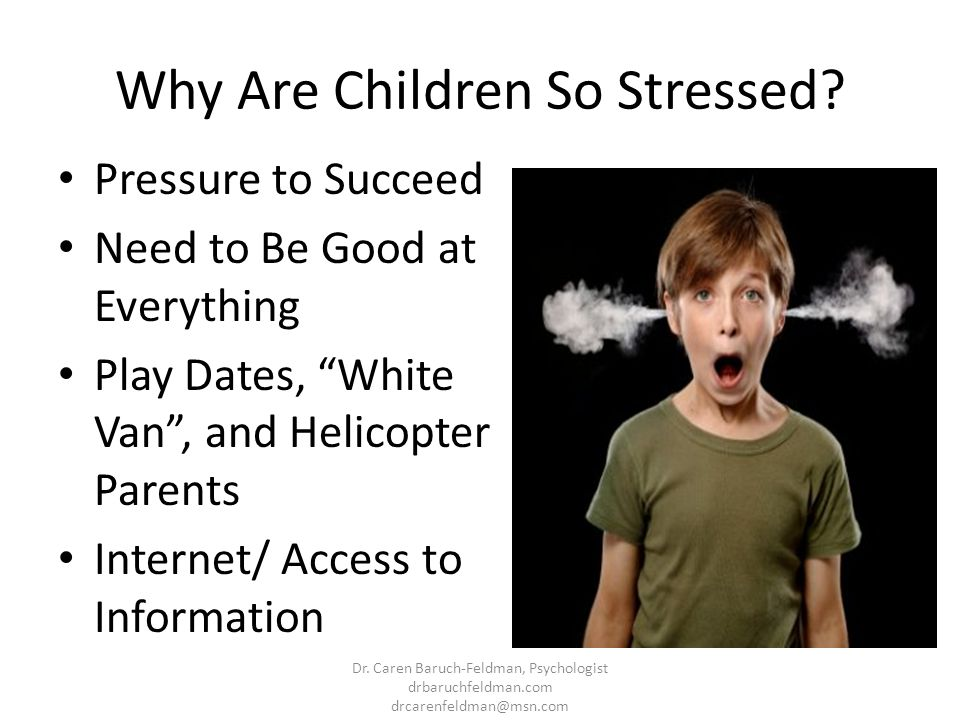 Why Are Children So Stressed