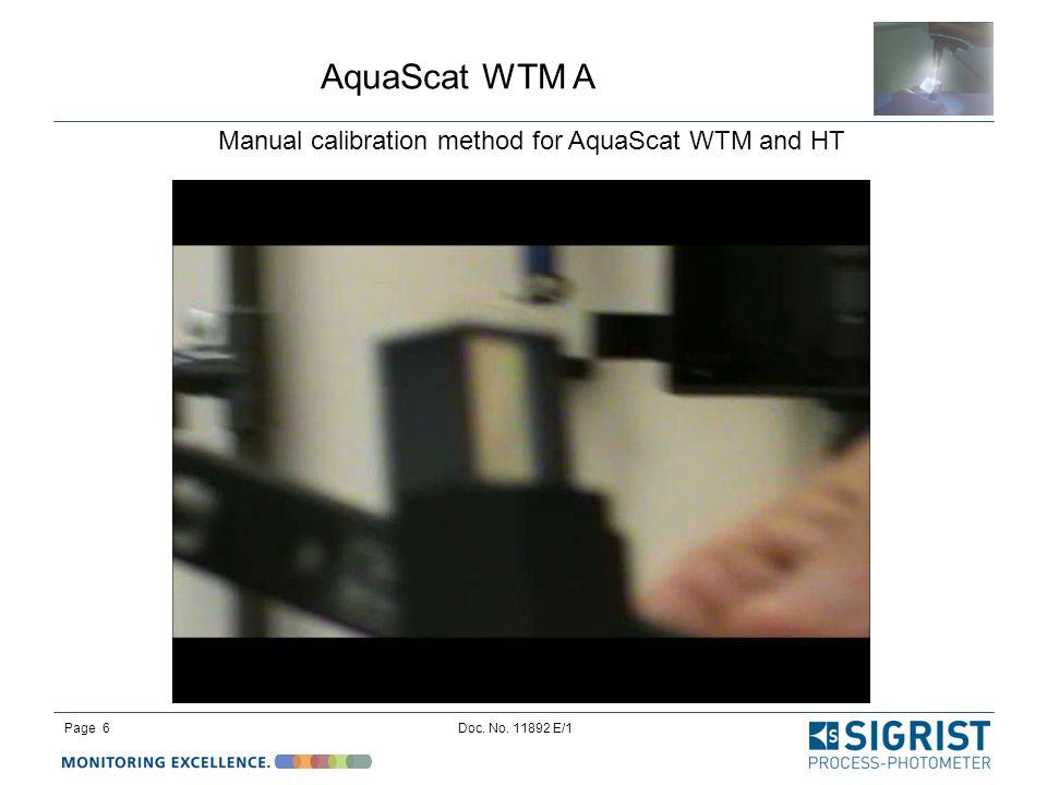 Manual calibration method for AquaScat WTM and HT