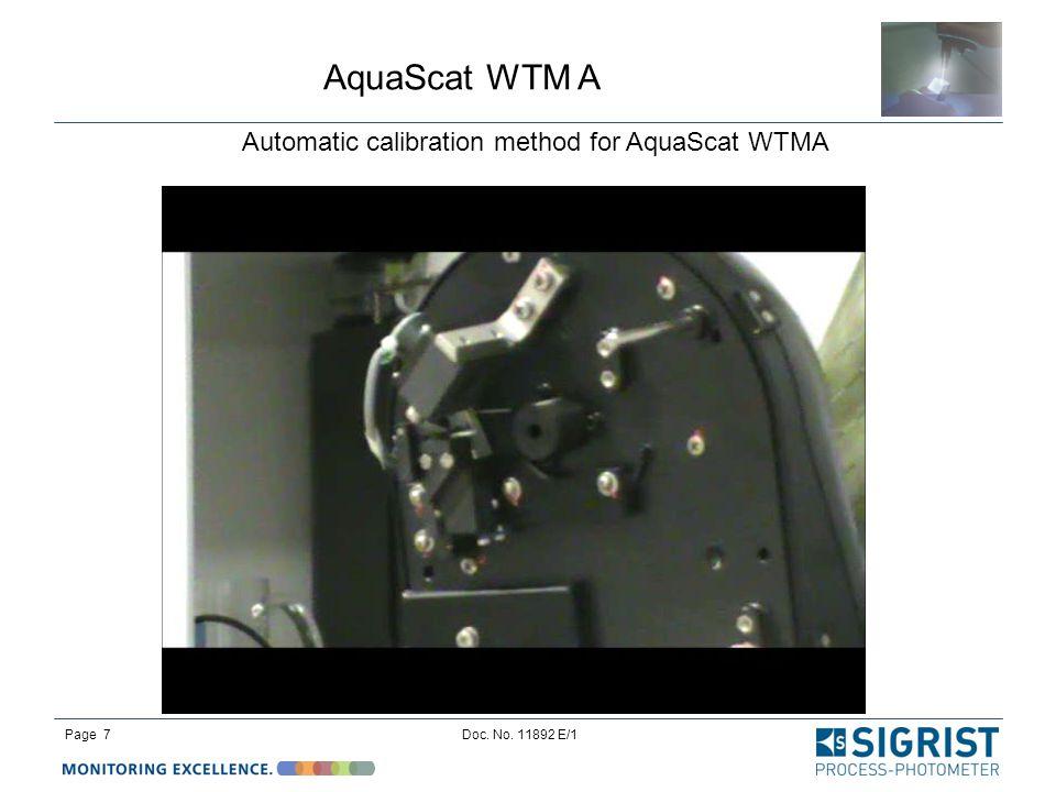 Automatic calibration method for AquaScat WTMA