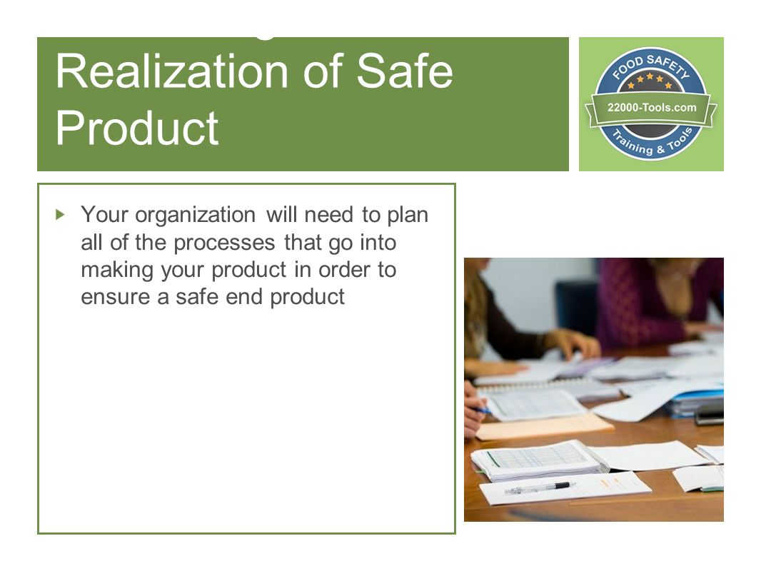 7 Planning & Realization of Safe Product