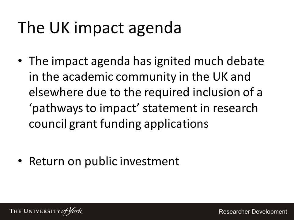 The UK impact agenda