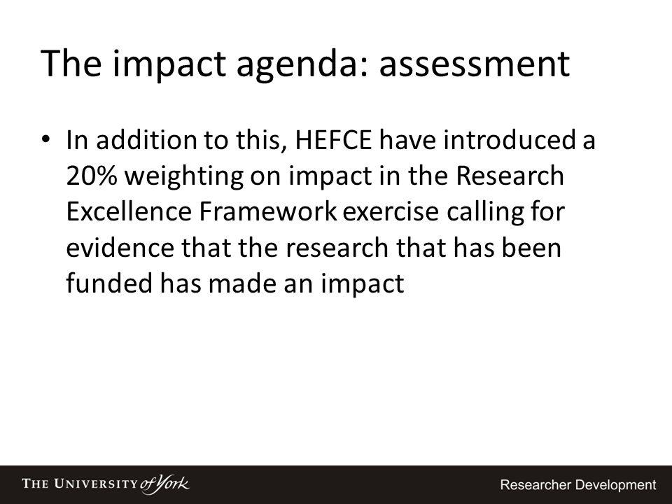 The impact agenda: assessment