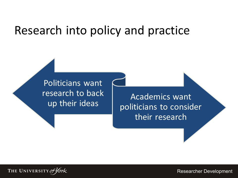 Research into policy and practice