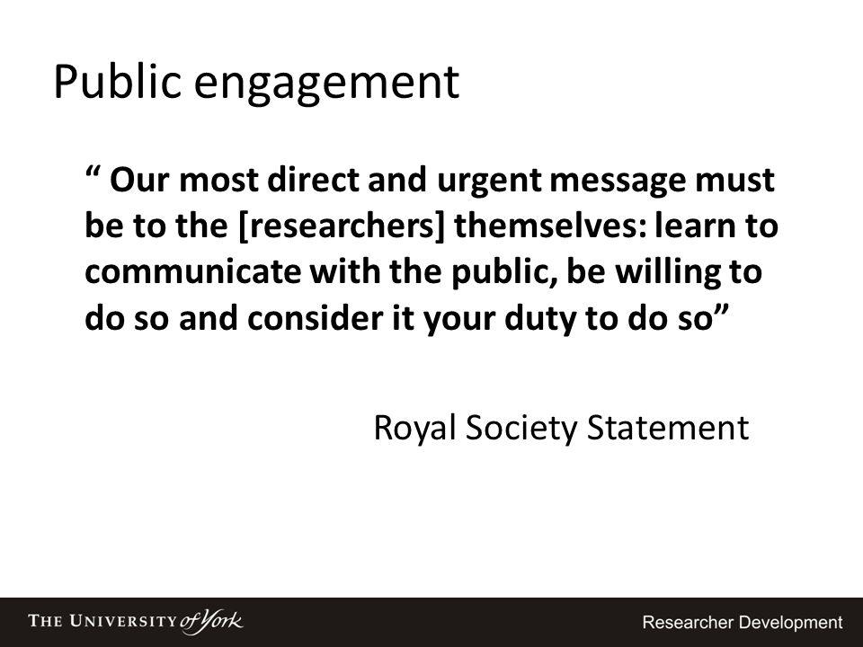Royal Society Statement