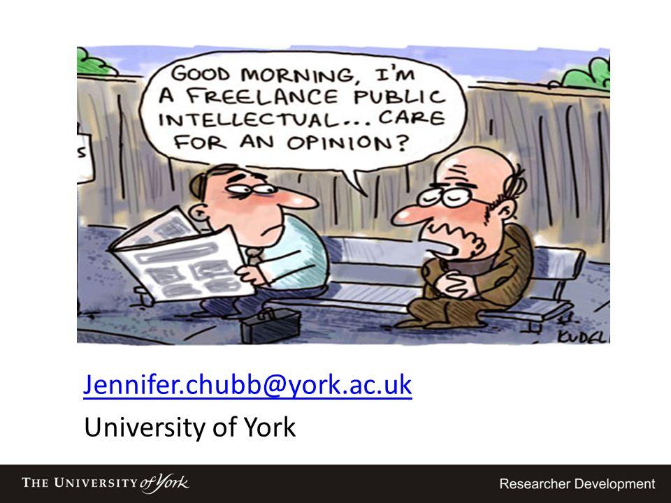 Jennifer.chubb@york.ac.uk University of York