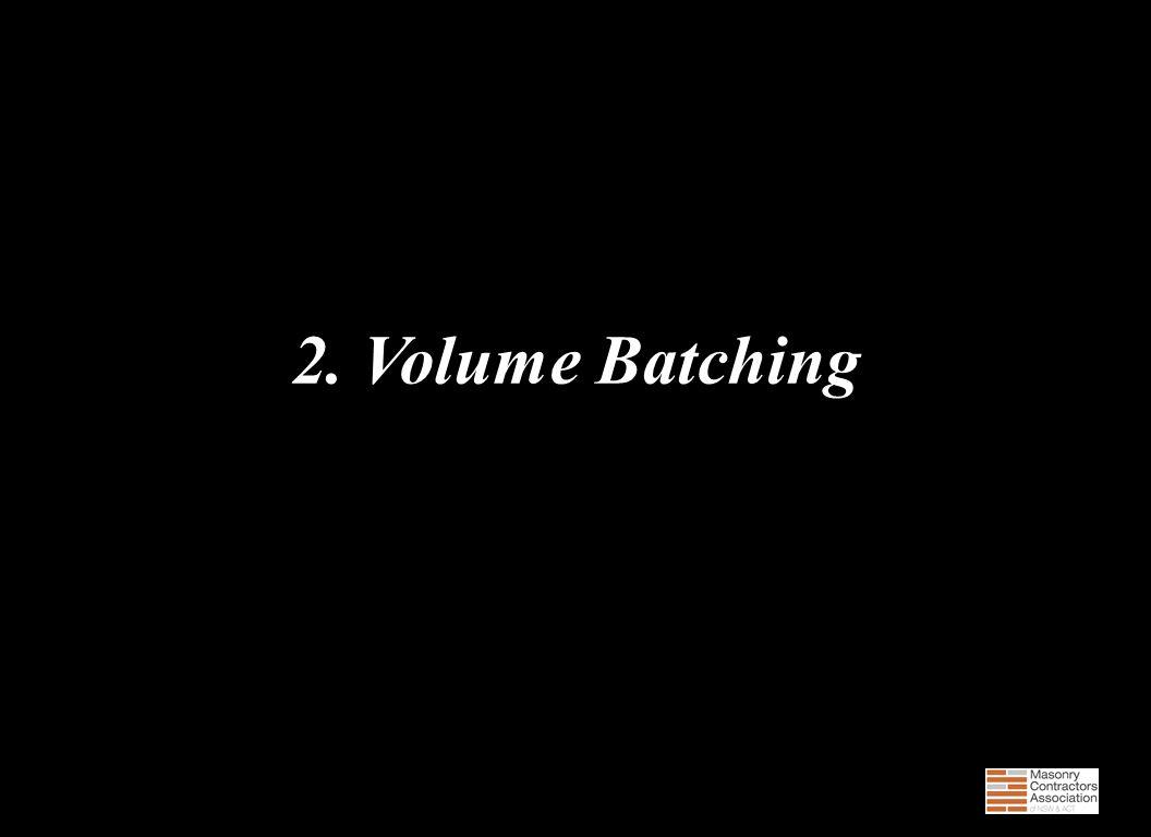 2. Volume Batching