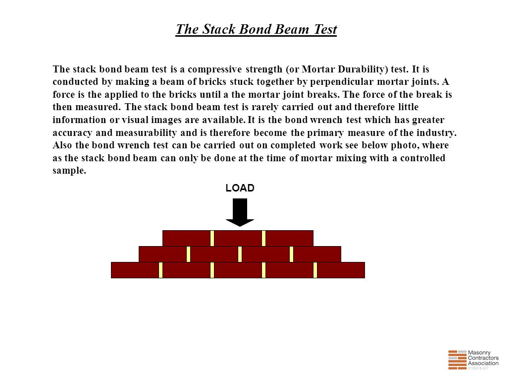 The Stack Bond Beam Test