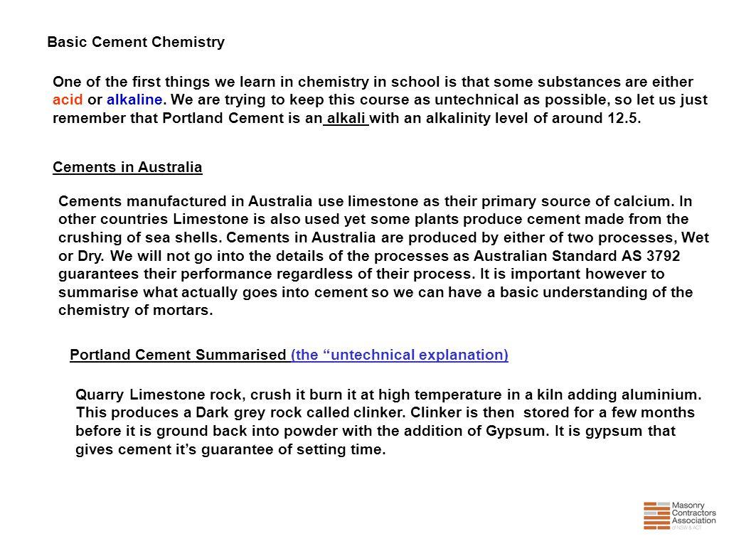 Basic Cement Chemistry