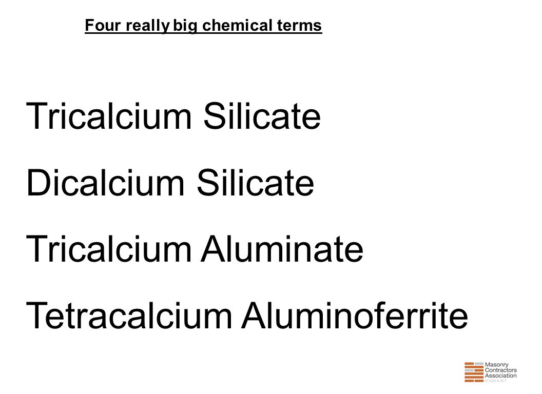Four really big chemical terms
