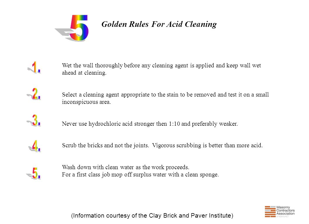 Golden Rules For Acid Cleaning