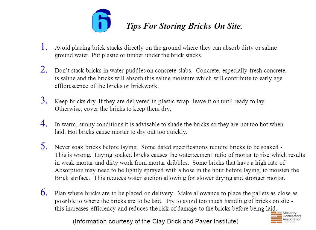 Tips For Storing Bricks On Site.