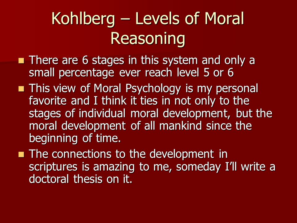 levels of moral development pdf