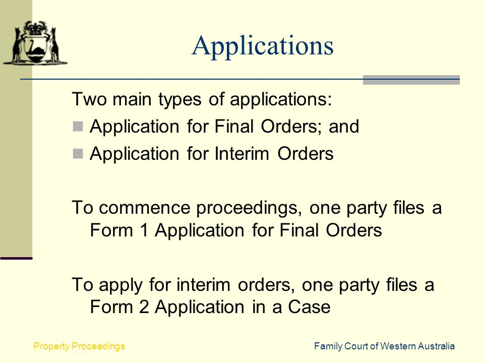 Applications Two main types of applications: