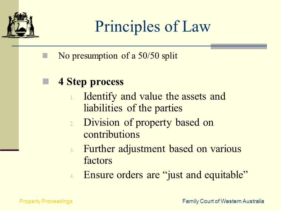 Principles of Law 4 Step process