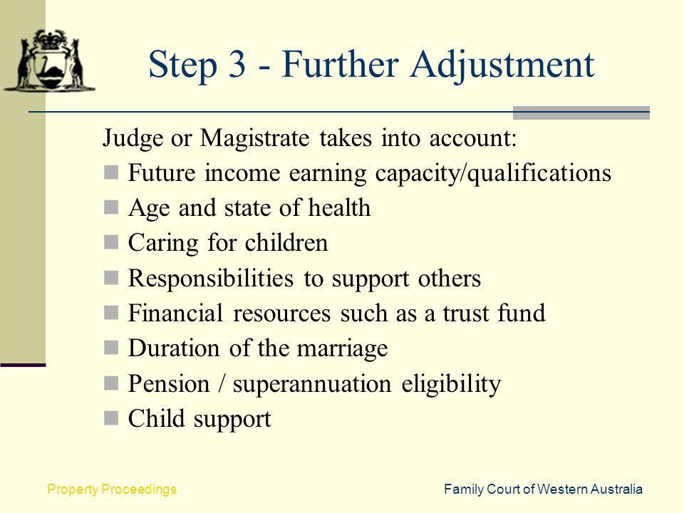 Step 3 - Further Adjustment