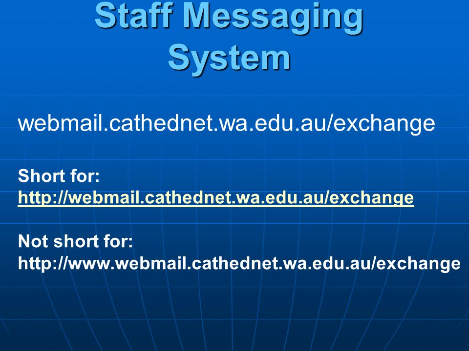 Staff Messaging System