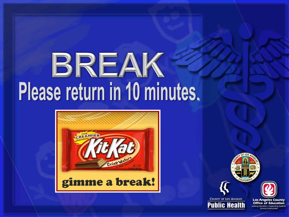 Please return in 10 minutes.