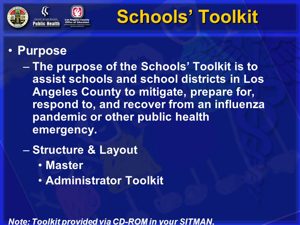 Schools' Toolkit Purpose