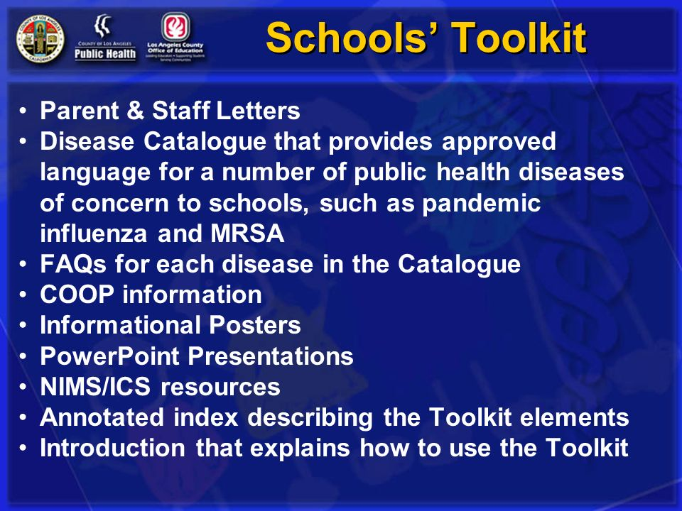 Schools' Toolkit Parent & Staff Letters