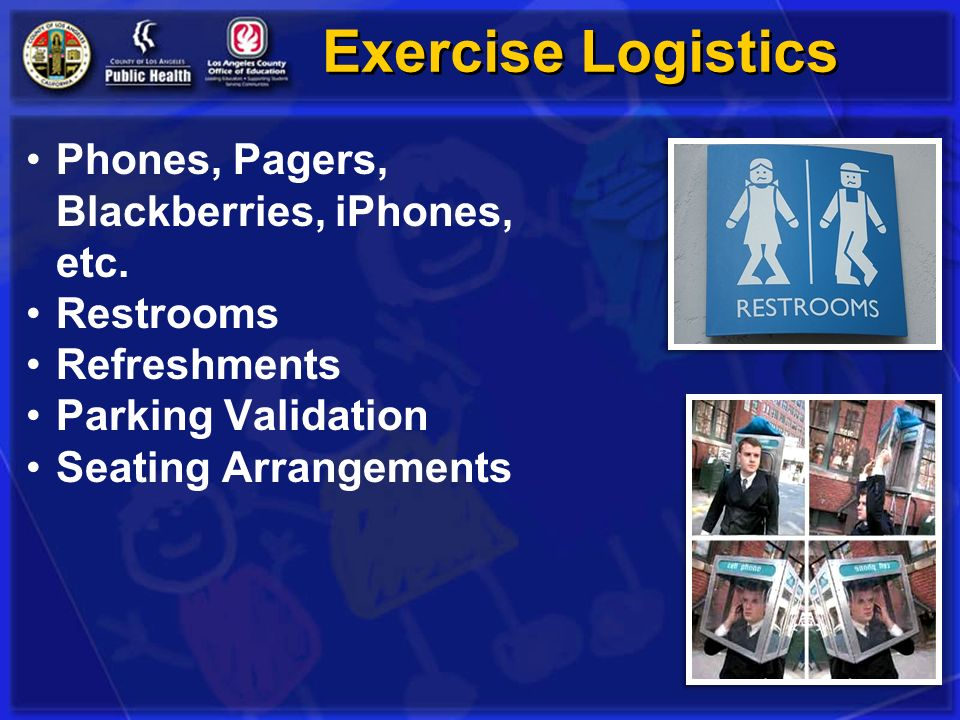 Exercise Logistics Phones, Pagers, Blackberries, iPhones, etc.