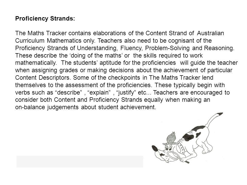 Proficiency Strands: