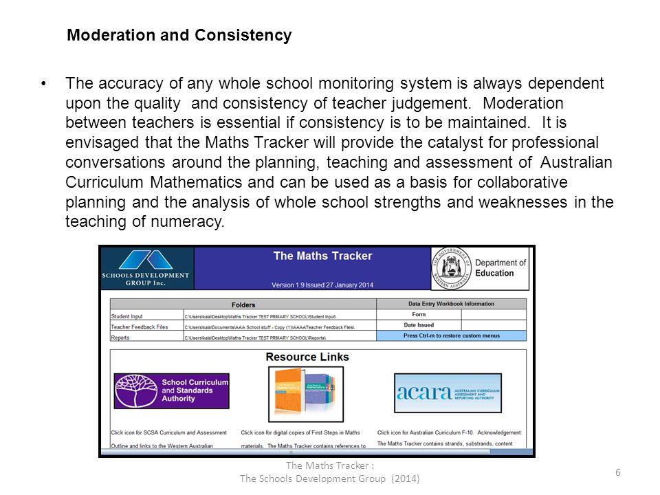 The Maths Tracker : The Schools Development Group (2014)