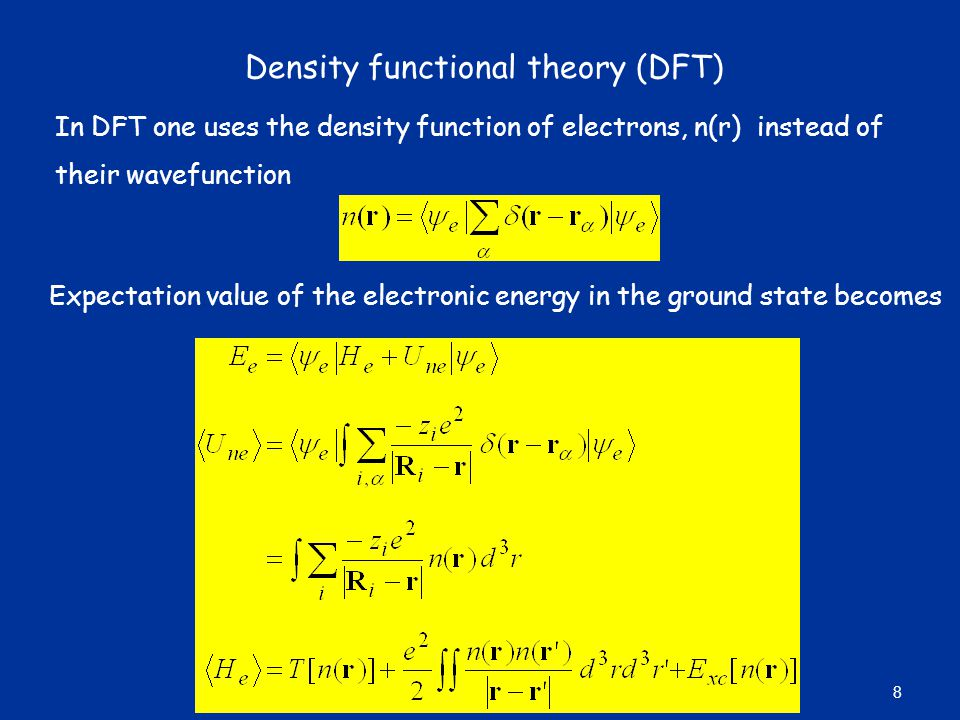 Density functional theory (DFT)