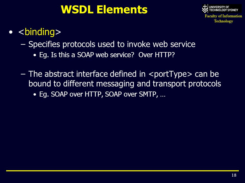 WSDL Elements <binding>