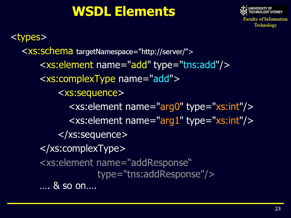 WSDL Elements <types>