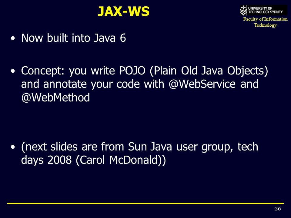 JAX-WS Now built into Java 6
