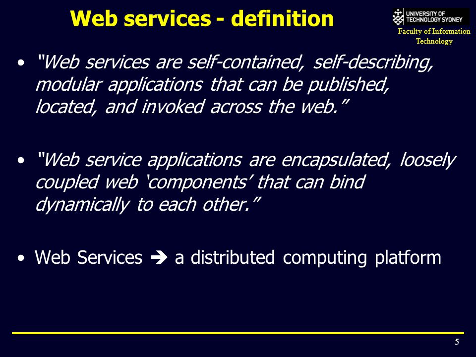 Web services - definition
