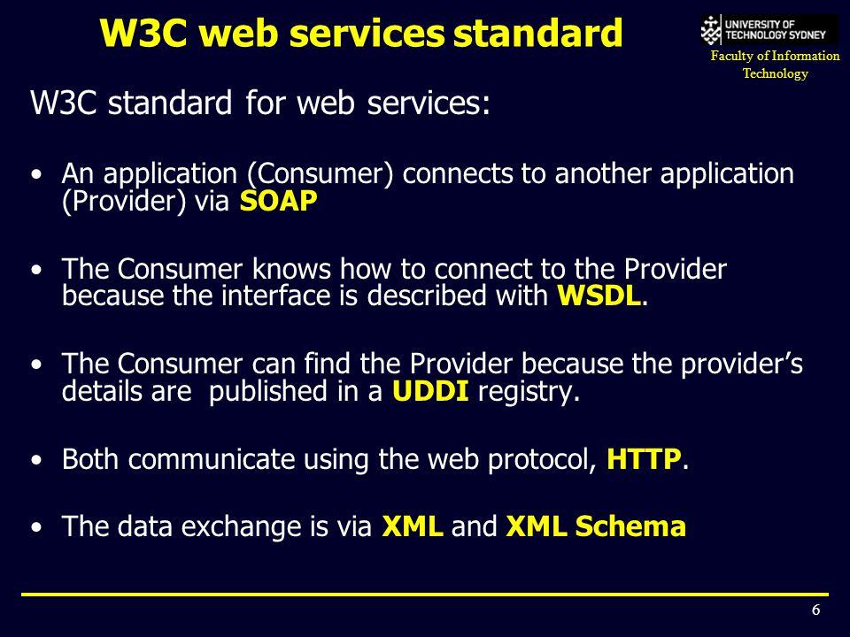 W3C web services standard
