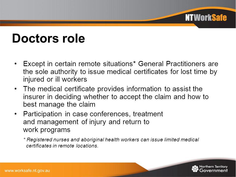 Doctors role