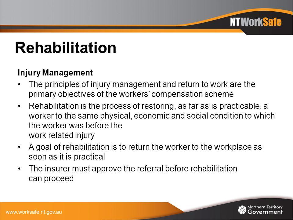 Rehabilitation Injury Management
