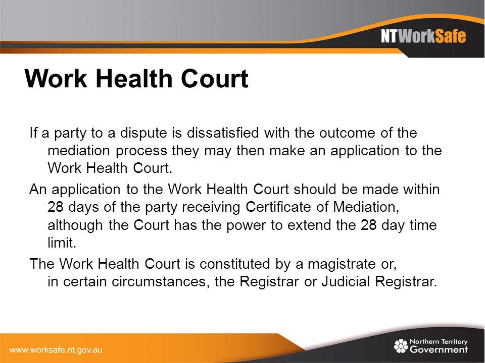 Work Health Court