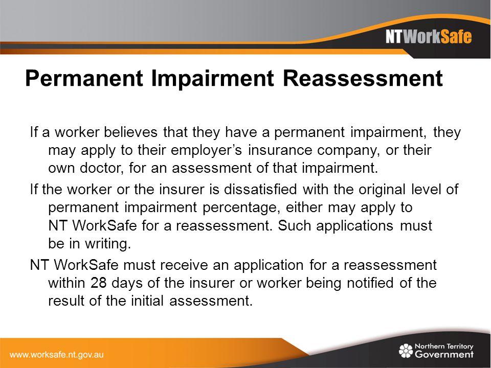 Permanent Impairment Reassessment