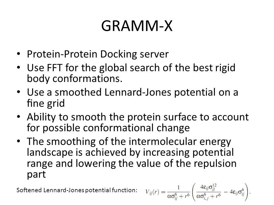 GRAMM-X Protein-Protein Docking server