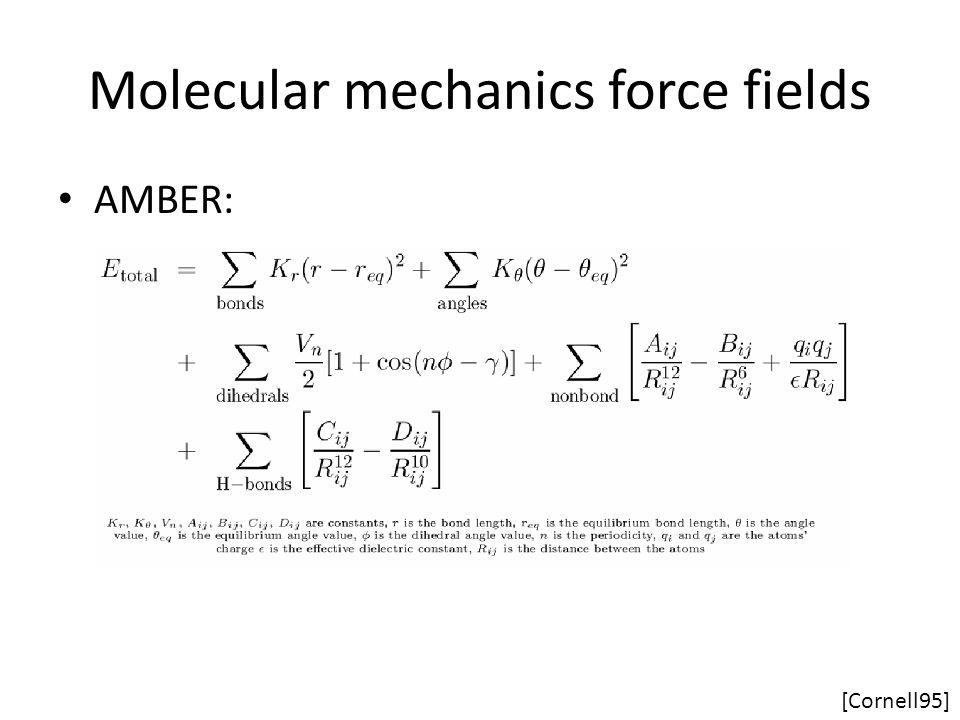 Molecular mechanics force fields