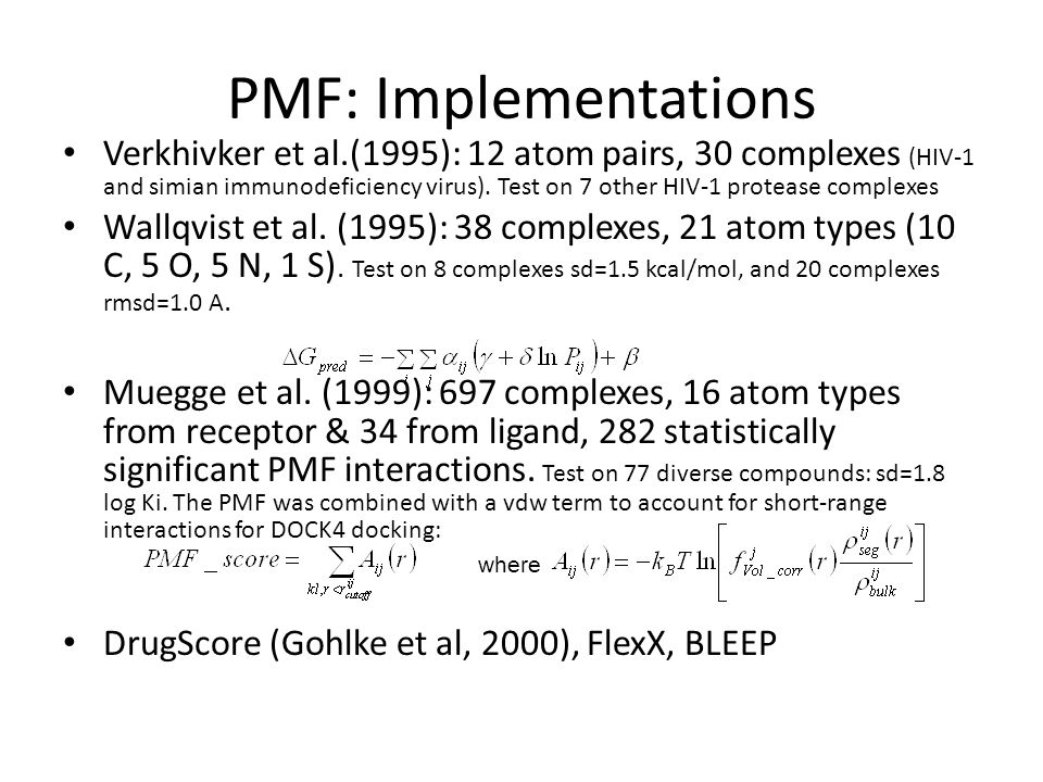 PMF: Implementations