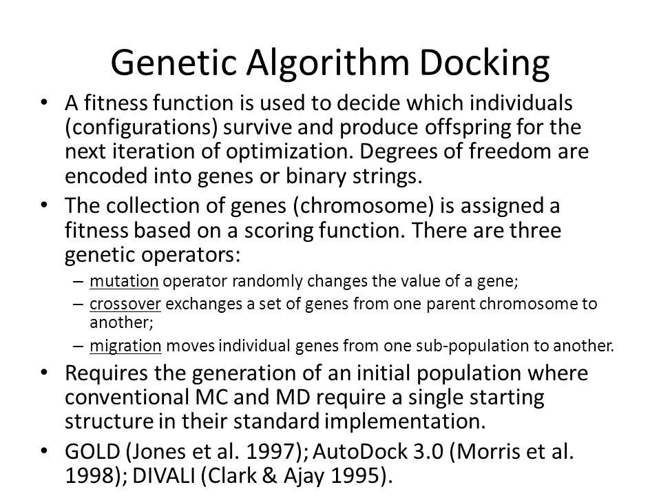 Genetic Algorithm Docking